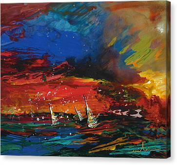 Sailing Impression 03 Canvas Print by Miki De Goodaboom