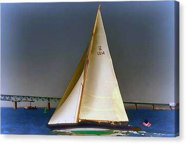 Sailing Impressionist Paint Effect Canvas Print