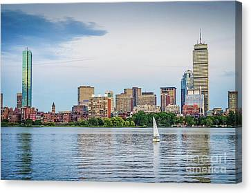 Sailing In Back Bay Canvas Print