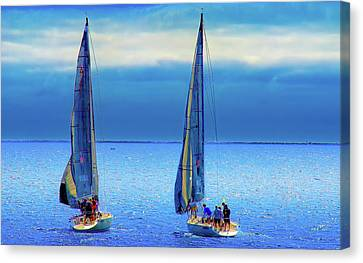 Sailing In The Blue Canvas Print