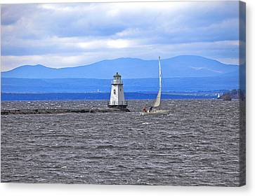 Sailing In To Open Waters Canvas Print by James Steele