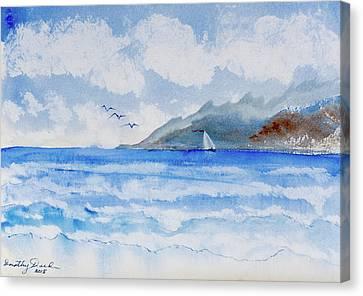 Sailing Into Moorea Canvas Print