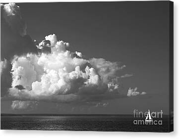 Sailing Into Storm Canvas Print