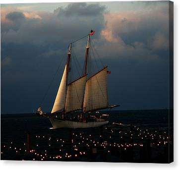 Sailing Into Sunset  Canvas Print