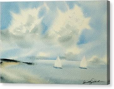 Sailing Into A Calm Anchorage Canvas Print