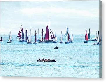 Sailing Into The Heat Haze Canvas Print by Terri Waters