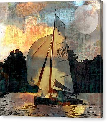 Canvas Print featuring the photograph Sailing Into The Sunset by LemonArt Photography