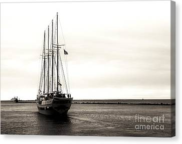 Sailing Lake Michigan Canvas Print by John Rizzuto