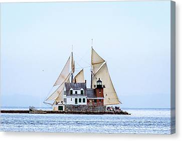Penobscot Bay Canvas Print - Sailing Lighthouse by Tim Sullivan