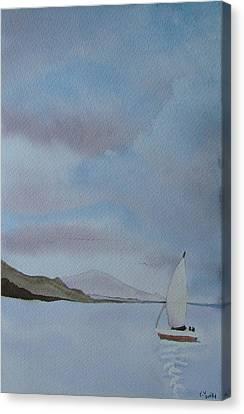 Sailing Canvas Print by Liz Vernand