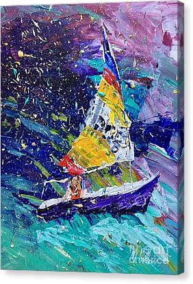 I Am Sailing Canvas Print - Sailing Magic by Mary Cullen