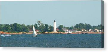 Canvas Print featuring the photograph Sailing New Haven by Margie Avellino