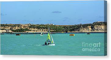 Sailing On A Sunny Day Canvas Print by Stephan Grixti