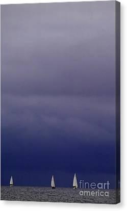 Sailing On Baltic Sea Canvas Print by Heiko Koehrer-Wagner