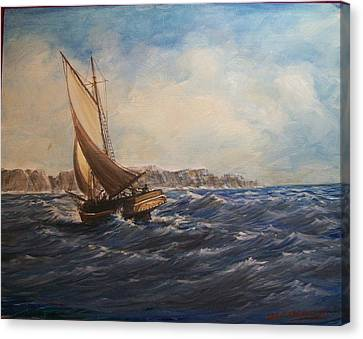 Sailing On Narragansett Bay Canvas Print