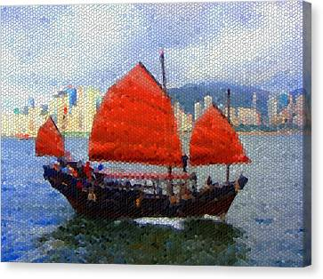 Sailing On The East Canvas Print by Roberto Alamino