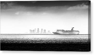 Sailing Out Of Cigar City Canvas Print by Marvin Spates