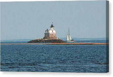 Sailing Penfield Lighthouse Canvas Print