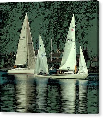 Sailing Reflections Canvas Print