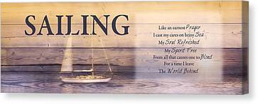 Canvas Print featuring the photograph Sailing by Robin-Lee Vieira