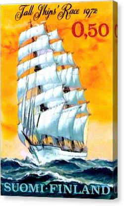 Sailing School Ship Canvas Print by Lanjee Chee