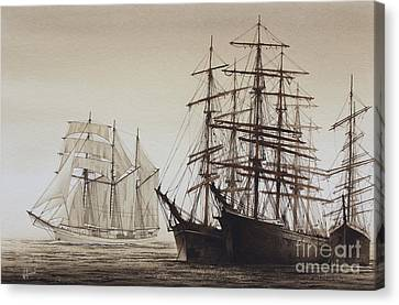 Sailing Ships Canvas Print by James Williamson