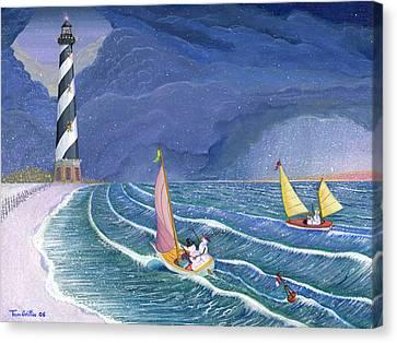 Sailing Snowmen Canvas Print by Thomas Griffin