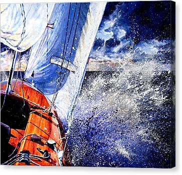 Sailing Souls Canvas Print by Hanne Lore Koehler