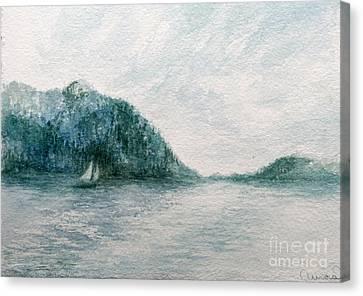 Sailing Sound 2 Canvas Print by Aurora Jenson