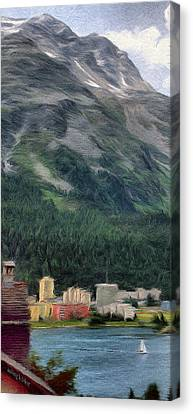 Sailing St Moritz Canvas Print by Jeff Kolker