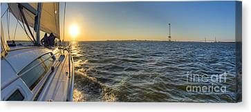 Sailing Sunset Canvas Print by Dustin K Ryan