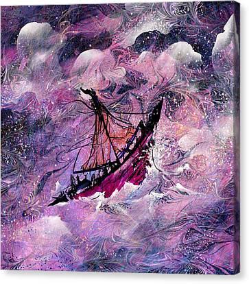 Sailing The Heavens Canvas Print by Rachel Christine Nowicki