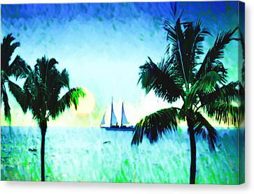 Sailing The Keys Canvas Print by Bill Cannon