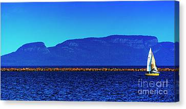 Sailing The Winds Of The Giant Canvas Print by James Brown