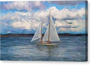 Sailing Through The Clouds Canvas Print by Dan Sproul