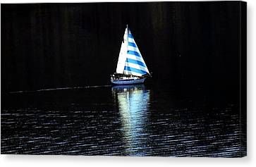 Sailing Canvas Print by Tiffany Vest