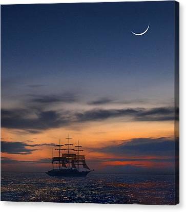 Sailing To The Moon 2 Canvas Print by Mike McGlothlen