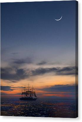 Sailing To The Moon Canvas Print by Mike McGlothlen