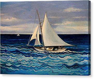 Sailing With The Waves Canvas Print