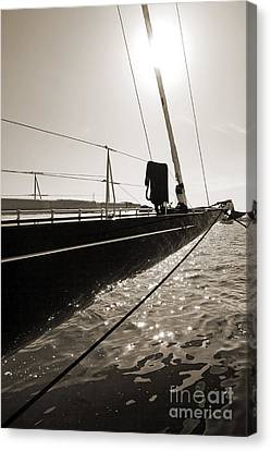 Sailing Yacht Hanuman J Boat Bow Canvas Print by Dustin K Ryan