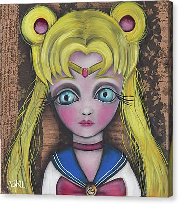 Sailor Moon Canvas Print by Abril Andrade Griffith