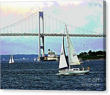 Sailors Away Canvas Print