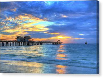 Canvas Print featuring the digital art Sailor's Delight by Sharon Batdorf