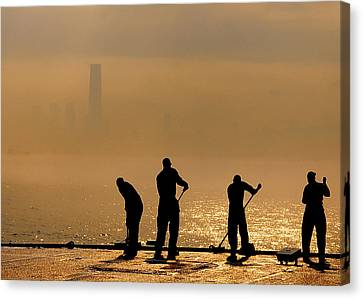Sailors On Duty Canvas Print by Celestial Images