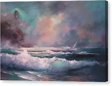 Sailors Plight Canvas Print by Sally Seago