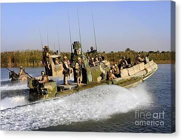 Sailors Racing Along The Euphrates Canvas Print by Stocktrek Images