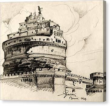 Historic Site Canvas Print - Saint Angel Castle by Odon Czintos