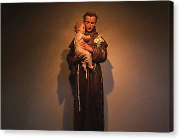 Saint Anthony Canvas Print by Donna Kennedy