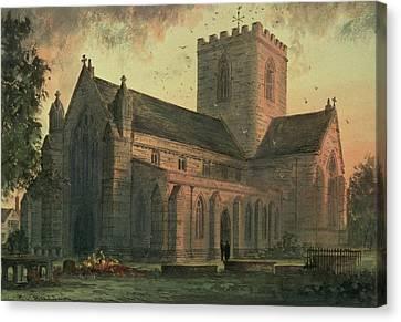 Saint Asaphs Cathedral Canvas Print by Paul Braddon