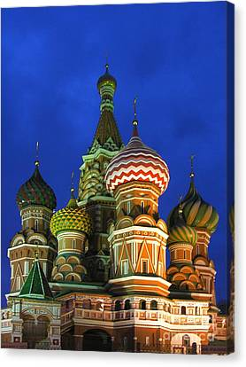 Saint Basil's Cathedral Moscow  Canvas Print by Karin Ubeleis-Jones